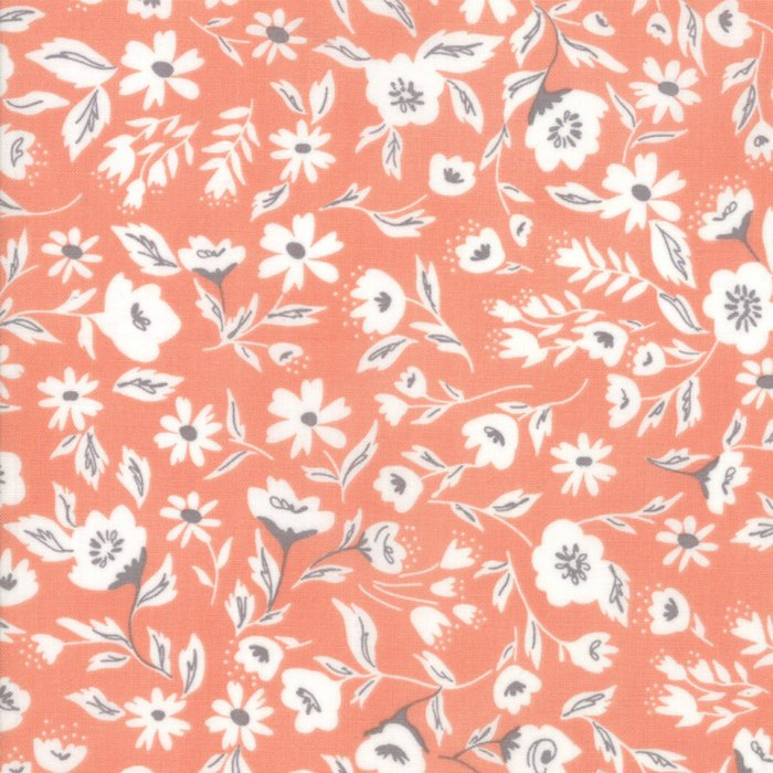 Peach Garden Bed Fabric