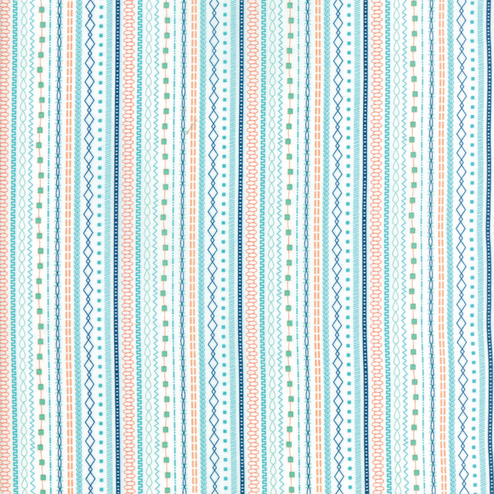 White Floral Stripe Fabric from Well Said Collection at Cherry Creek Fabric