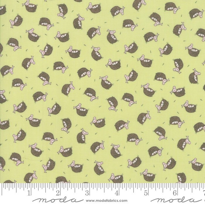 Green Nest Fabric from Cottontail Cottage Collection at Cherry Creek Fabric
