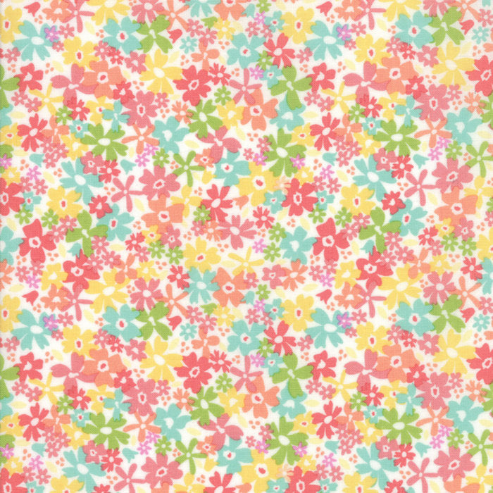 White Floral Charming Fabric from Sunnyside Up Collection at Cherry Creek Fabric