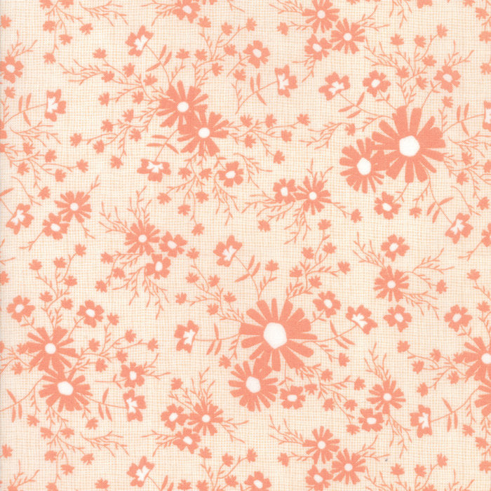Sunnyside Up by Corey Yoder | Peach Floral Meadow Fabric from Sunnyside Up Collection at Cherry Creek Fabric
