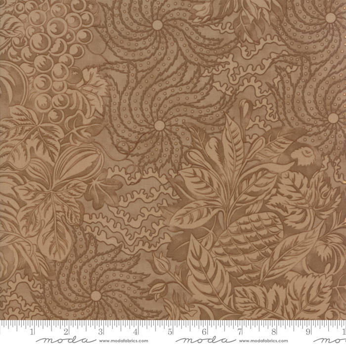 "Tan Tapestry FabricEND OF BOLT 3 yds + 10"" from Hazel & Plum Collection at Cherry Creek Fabric"