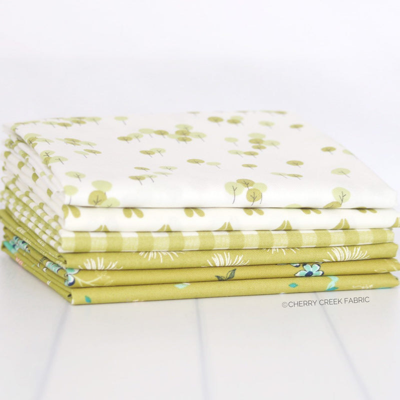 Woodland Secrets Green Fat Quarter Bundle from Woodland Secrets Collection at Cherry Creek Fabric