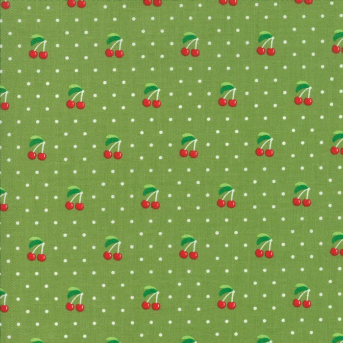 Orchard by April Rosenthal | Green Cherry Pie Fabric