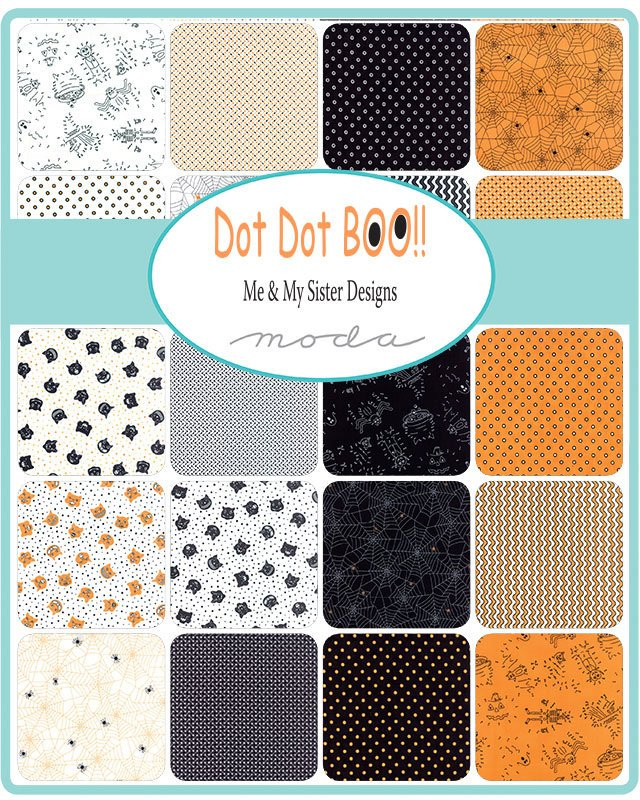 Dot Dot Boo Mini Charm Pack from Dot Dot Boo Collection at Cherry Creek Fabric