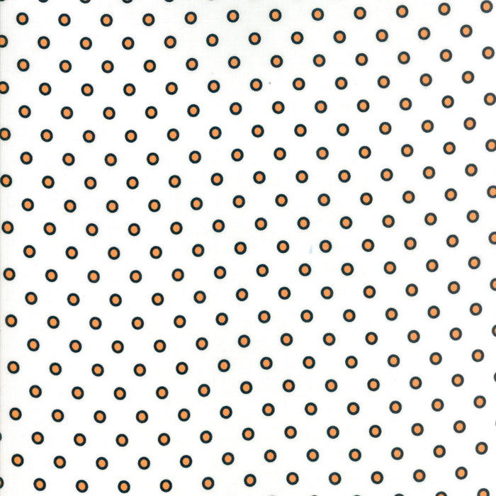 White Hollow Dots Fabric