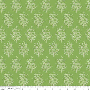 Green Vintage Stitchery Fabric from Harry & Alice Collection at Cherry Creek Fabric