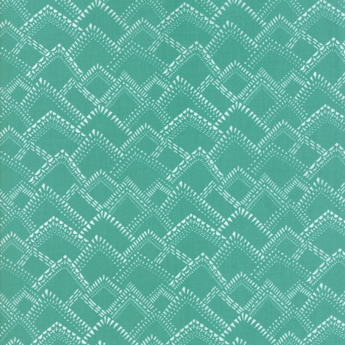 Turquoise Mountains Fabric from Yucatan Collection at Cherry Creek Fabric