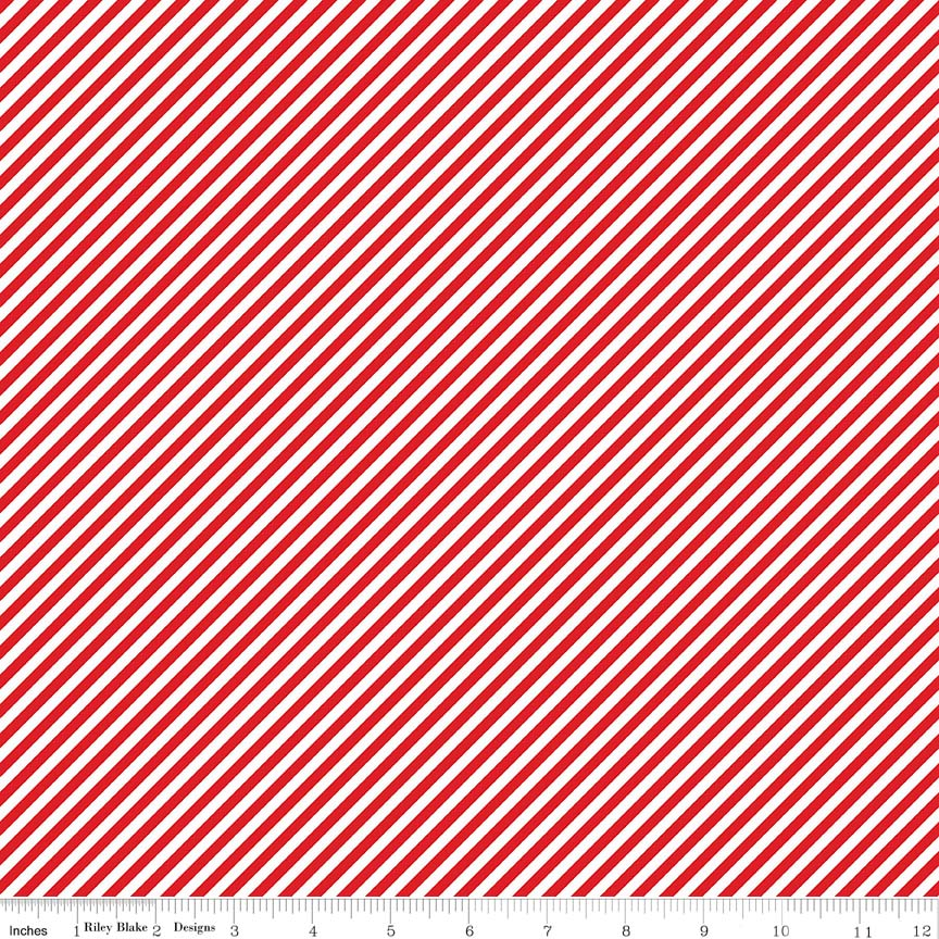 Red Bias Stripes Fabric from Simple Goodness Collection at Cherry Creek Fabric