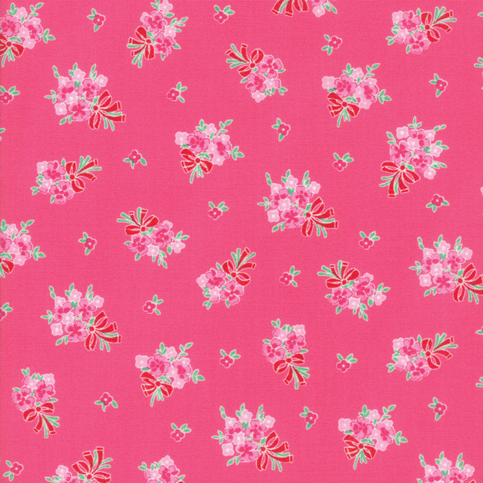 Raspberry Floral Bouquet Fabric
