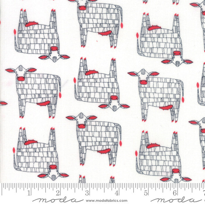 White Moo Cow Fabric from Farm Fresh Collection at Cherry Creek Fabric