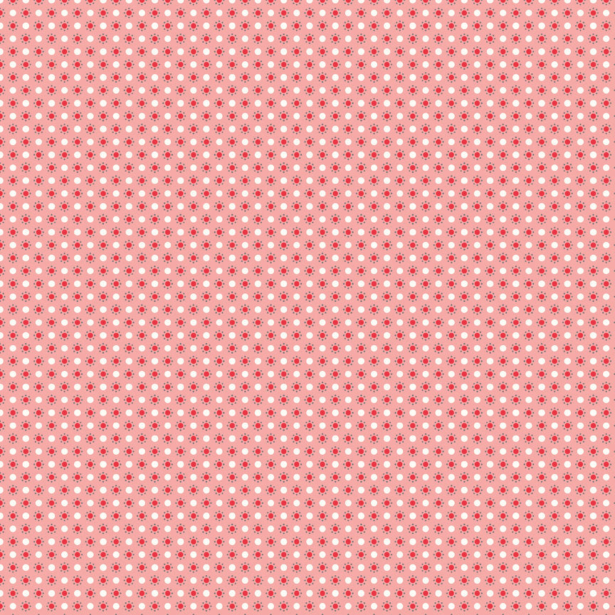 Pink Polka Dots Fabric from Autumn Love Collection at Cherry Creek Fabric