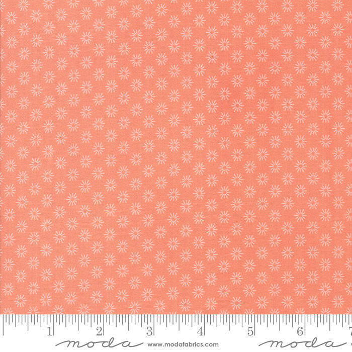 Peach Floral Sunshine Fabric from Sunnyside Up Collection at Cherry Creek Fabric