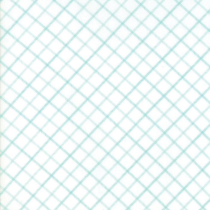 Aqua Plaid Fabric