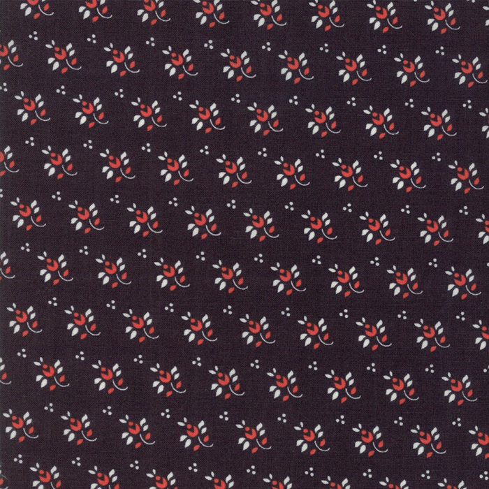 Black Feedsack Fabric