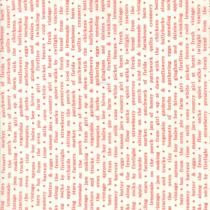 Red Country Text Fabric from Farmhouse II Collection at Cherry Creek Fabric