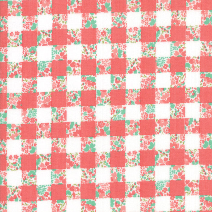 Strawberry Jam Fabric - Pink Gingham Garden Fabric - Corey Yoder - Moda Fabric - Floral Fabric - Flower Fabric - Fabric by the Yard from Cherry Creek Fabric & Crafts Collection at Cherry Creek Fabric