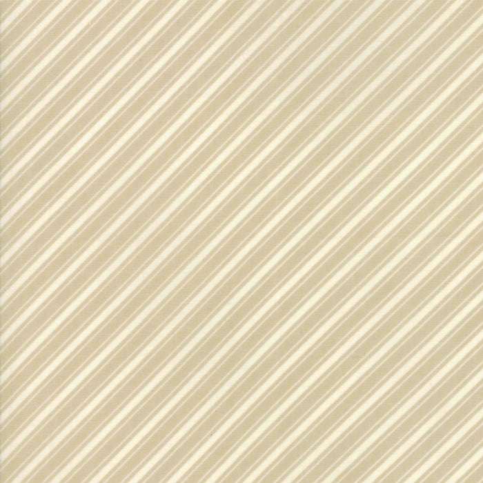 Tan Ticking Stripe Fabric</br>END OF BOLT </br>1 yds + 20