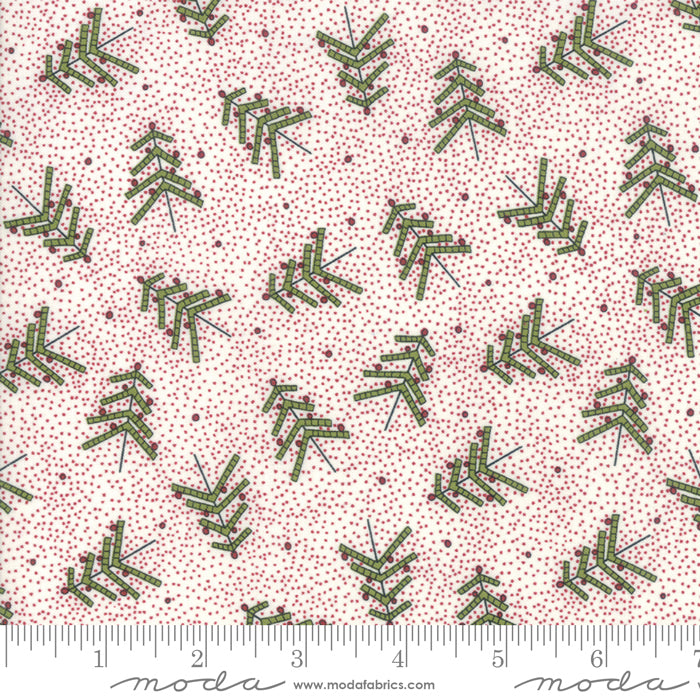 Merry Starts Here by Sweetwater | Red Christmas Tree Farm Fabric
