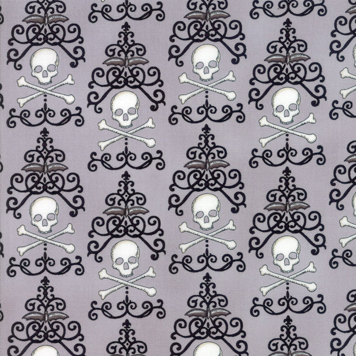 Light Grey Danger Damask Fabric