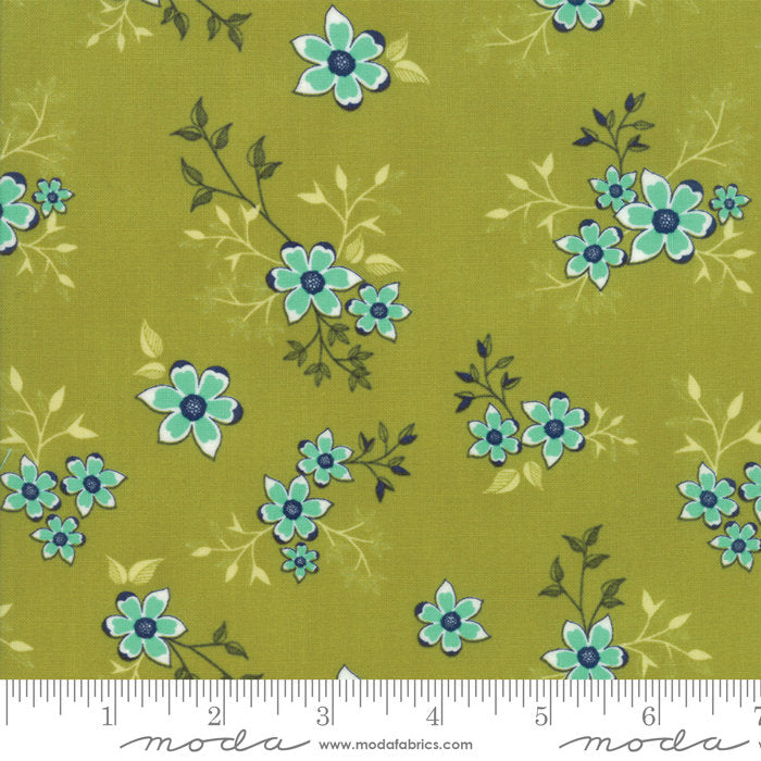 Green Vine Fabric from Woodland Secrets Collection at Cherry Creek Fabric