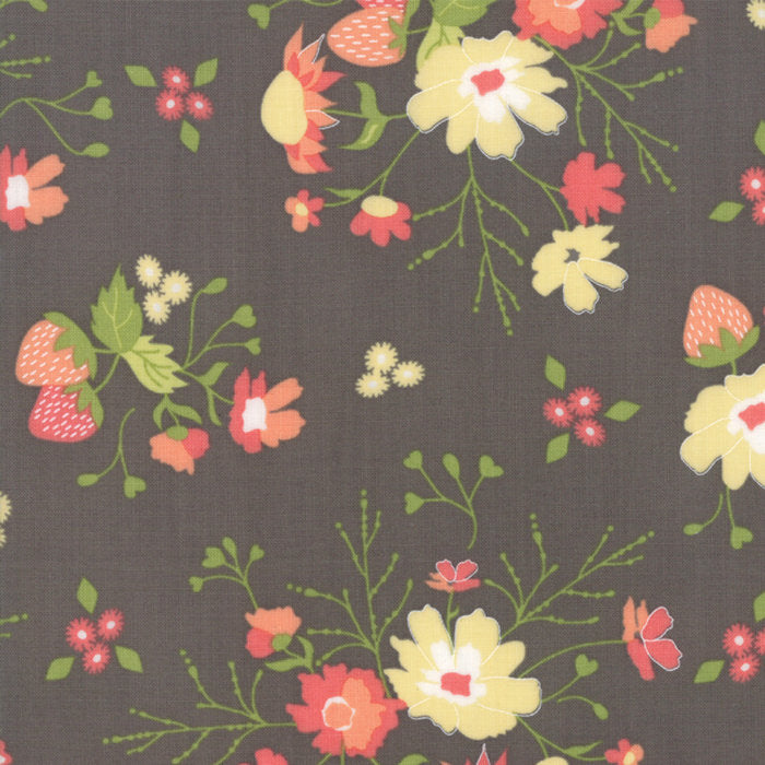 Strawberry Jam Fabric - Grey Floral Garden Fabric - Corey Yoder - Moda Fabric - Floral Fabric - Grey Fabric - Fabric by the Yard from Cherry Creek Fabric & Crafts Collection at Cherry Creek Fabric