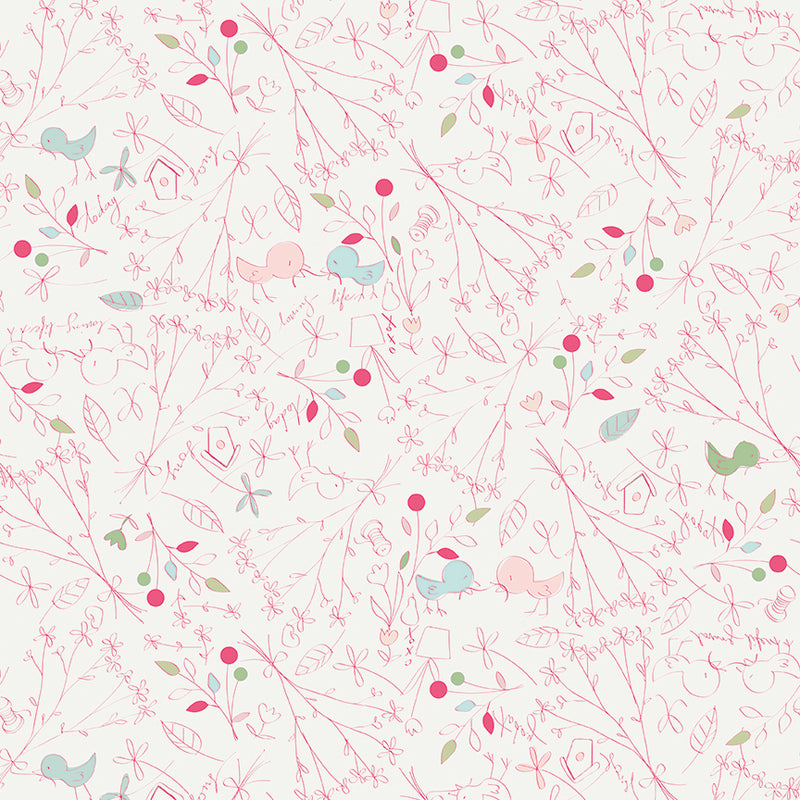 Cream Loving Life Fabric