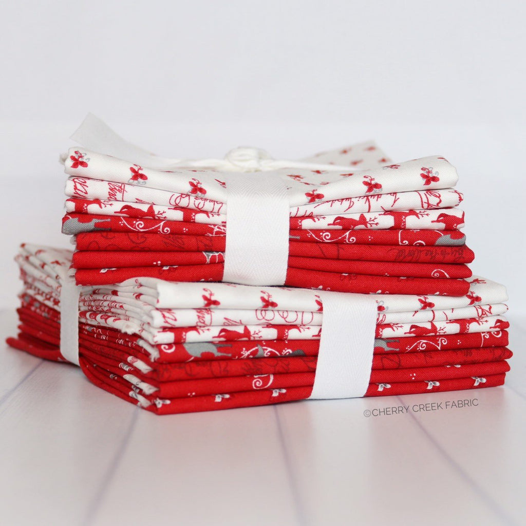 Sno Red Half Yard Bundle from Sno Collection at Cherry Creek Fabric