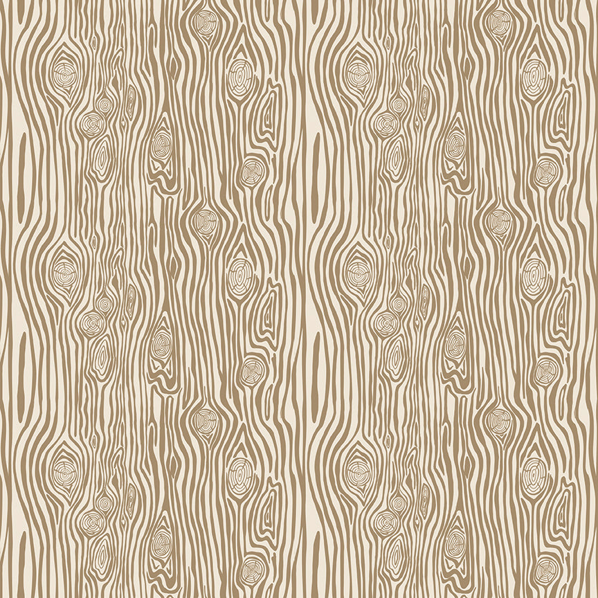 Brown Woodgrain Fabric