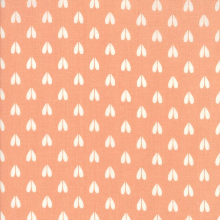 "END OF BOLT 1 yd + 35"" Peach Deer Hoof Fabric from Woodland Secrets Collection at Cherry Creek Fabric"