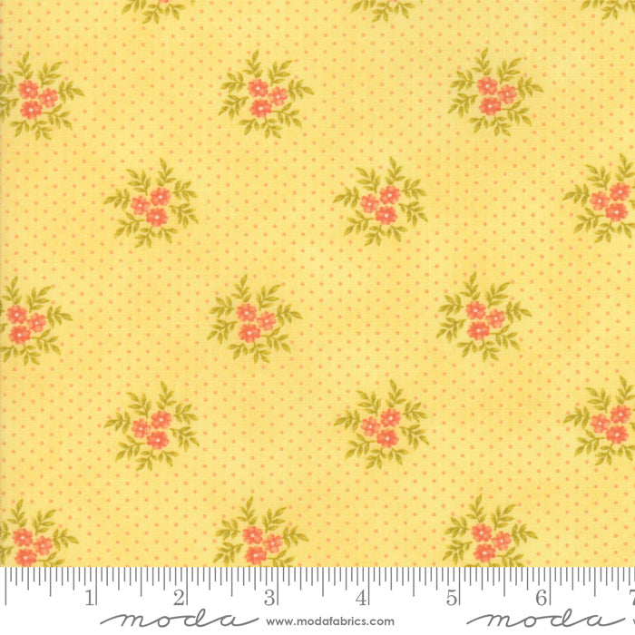 "Yellow Floral Posies FabricEND OF BOLT 1 yds + 14"" from Ella & Ollie Collection at Cherry Creek Fabric"