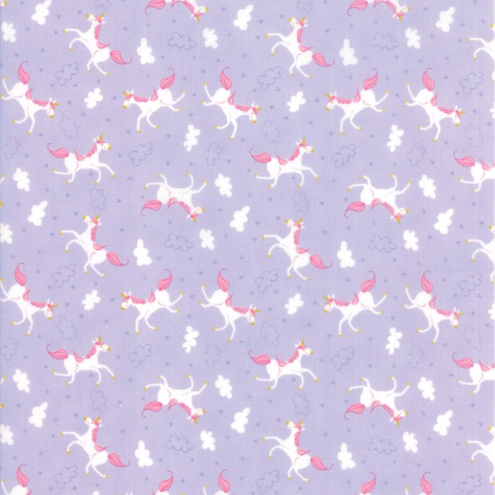 Lavendar Unicorn Fabric from Once Upon a Time Collection at Cherry Creek Fabric