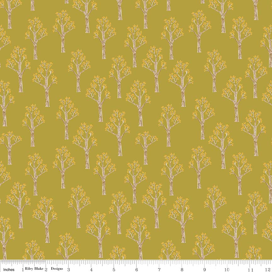 Green Trees Fabric