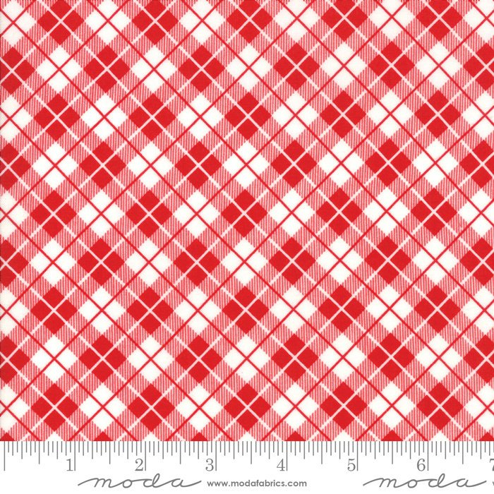 Red Picnic Basket Fabric