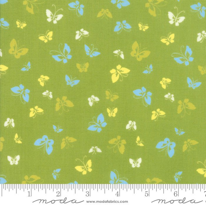 Green Butterflies Fabric from Lazy Days Collection at Cherry Creek Fabric