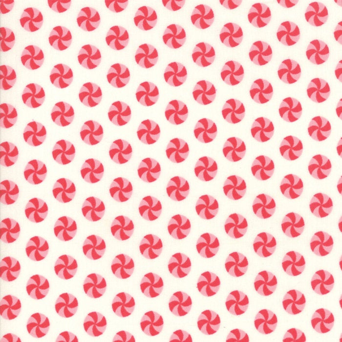 Sweet Christmas by Urban Chiks | Natural Peppermint Polka Dot Fabric