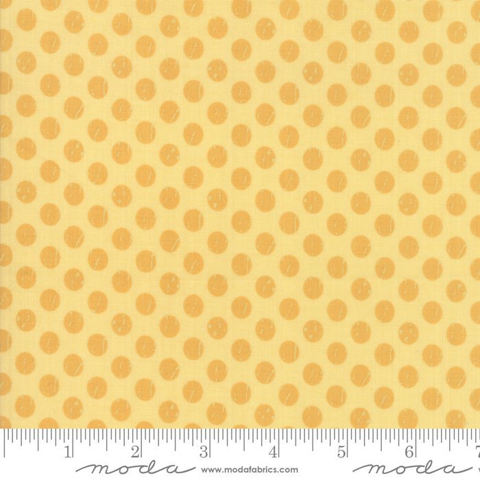 Yellow Dots Fabric