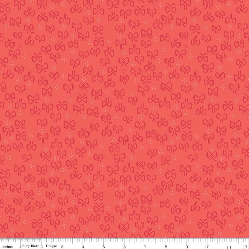 Red Little Bows Fabric