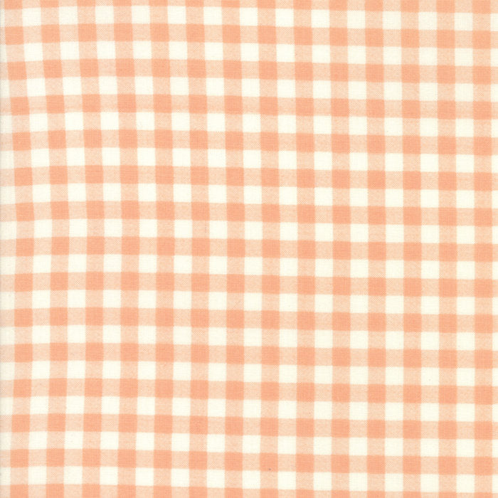Peach Plaid Fabric