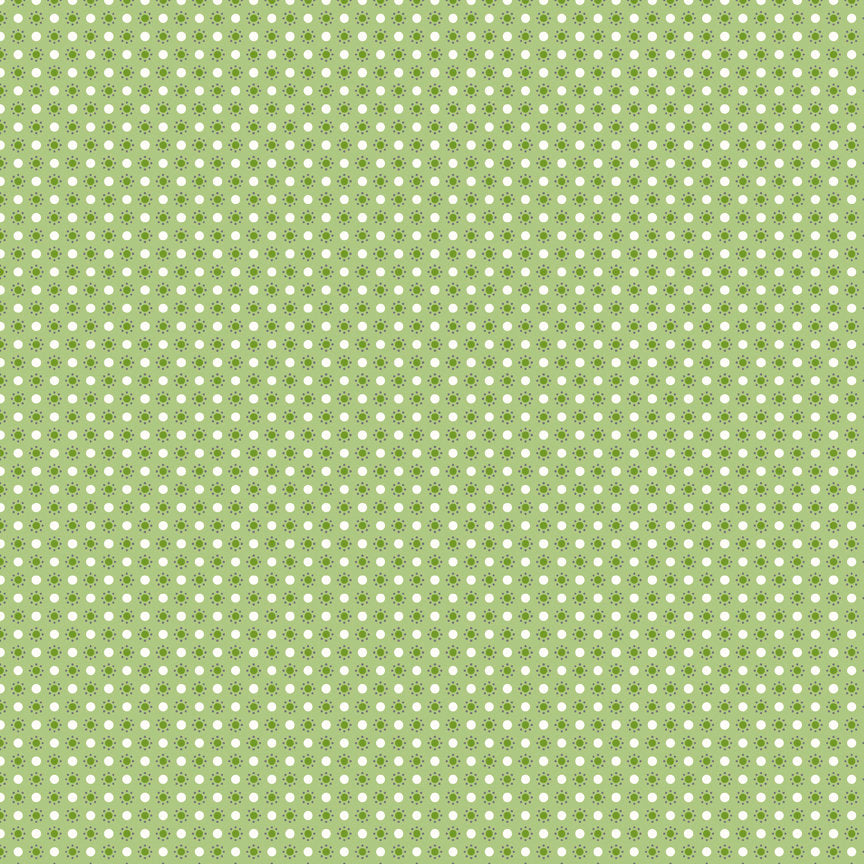 Green Polka Dots Fabric