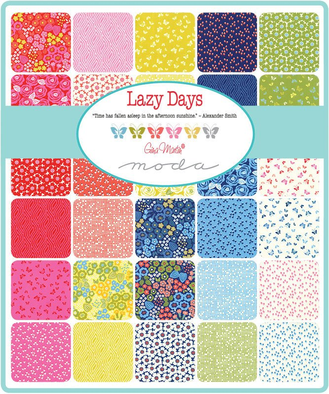 Lazy Days Charm Pack from Lazy Days Collection at Cherry Creek Fabric