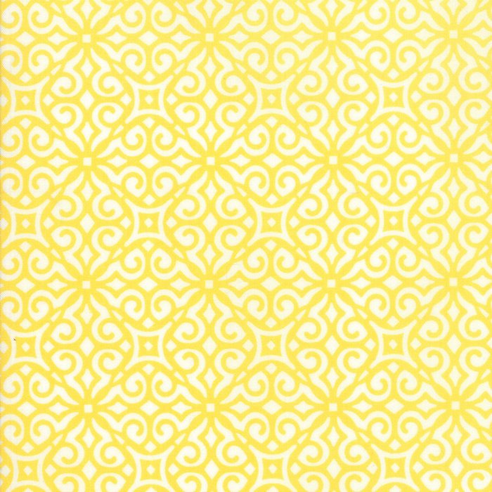 Yellow Geometric Fabric
