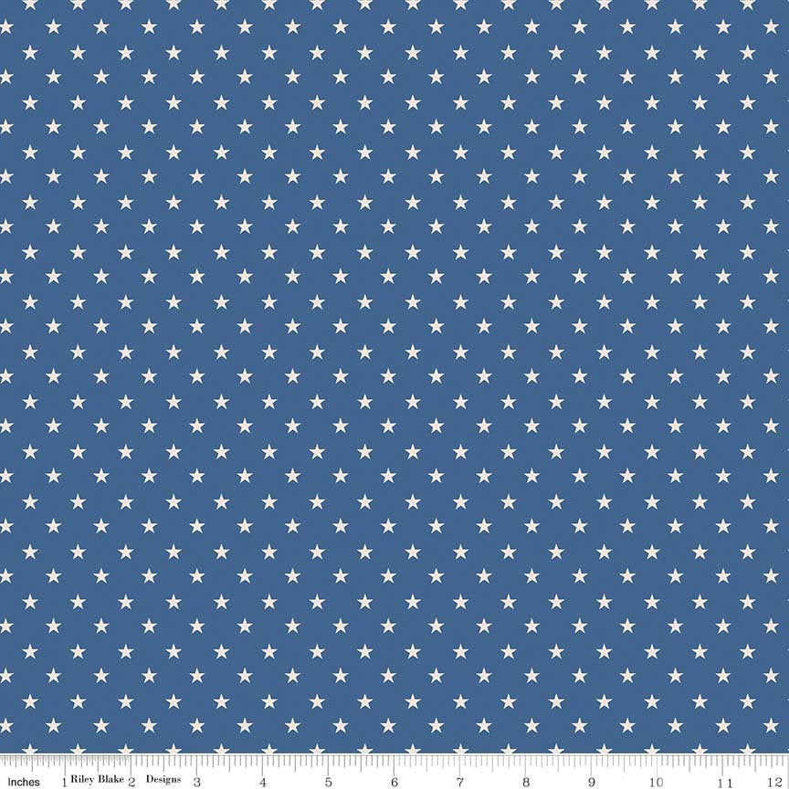 Navy Star Fabric from Harry & Alice Collection at Cherry Creek Fabric