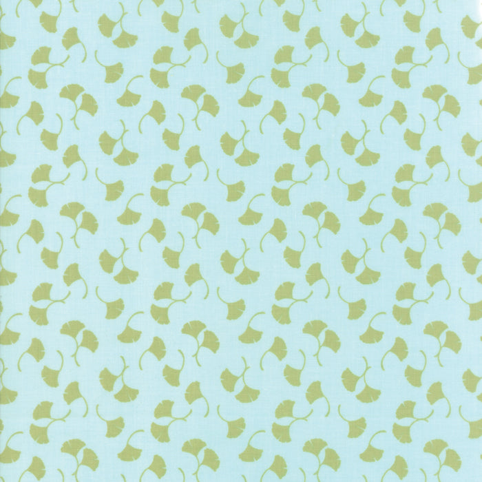 Aqua Ginko Fabric from Bungalow Collection at Cherry Creek Fabric