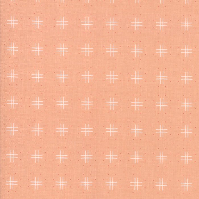 Peach Tic Tac Toe Fabric