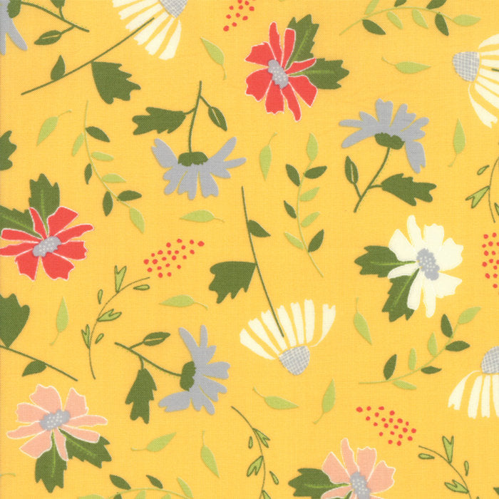 Yellow Meadow Blooms Fabric