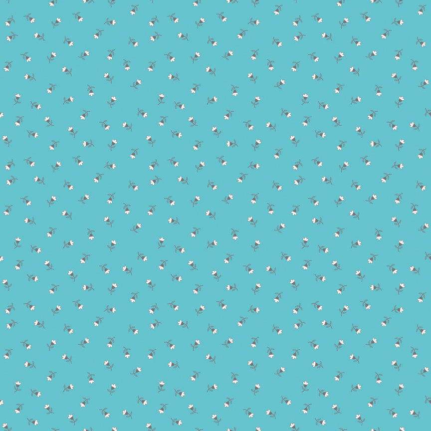 Blue Blossom Fabric