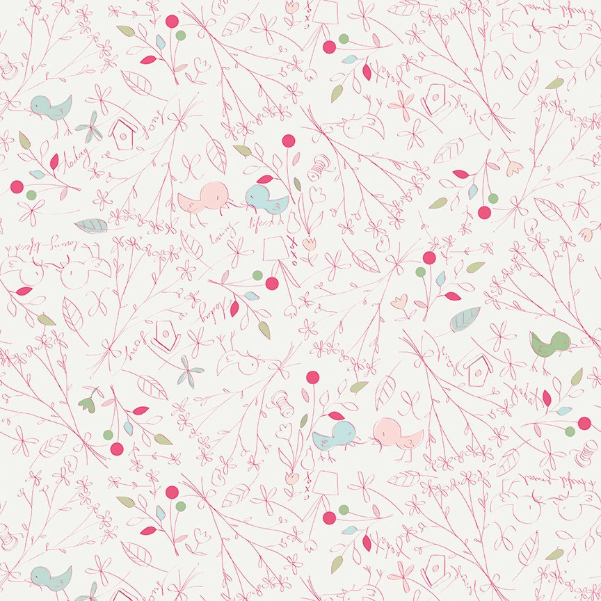 Cream Loving Life Fabric from Serendipity Collection at Cherry Creek Fabric