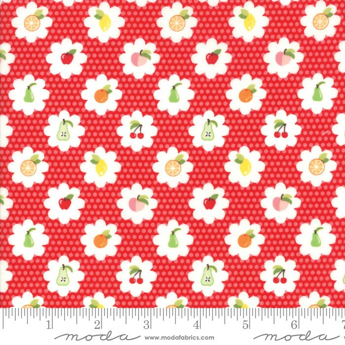 Red Fruit Grove Fabric