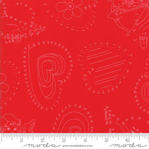 Red Connect the Dots Fabric</br>END OF BOLT </br>2 yds + 29""